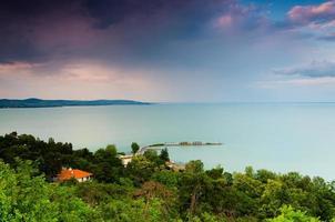 sfondo del lago foto