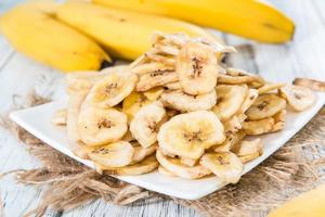 cibo sano (chips di banana) foto