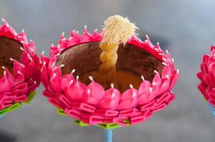 Festival del Loy Kratong celebrato in Tailandia foto