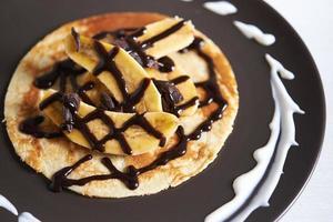 pancake servito a banana foto