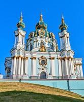 st. andrew's church in kiev, ucraina. foto
