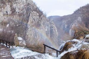 laghi plitvice arcobaleno foto