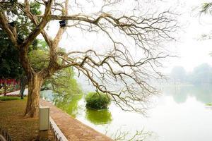 lago Hoan Kiem in inverno foto