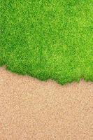 sfondo di campi da golf in erba foto
