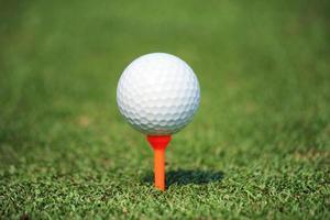 pallina da golf sul tee foto