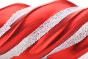 decorazione dell'albero di Natale rosso. foto