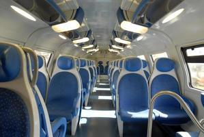 treno al chiuso. foto