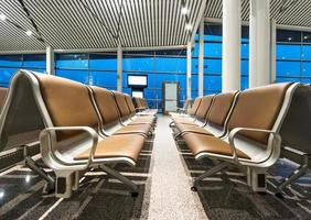 panchina in aeroporto foto