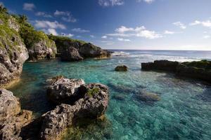 pozze di limu a niue, un atollo di corallo nel sud del Pacifico foto