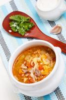 zuppa di cavolo tradizionale russa - shchi foto