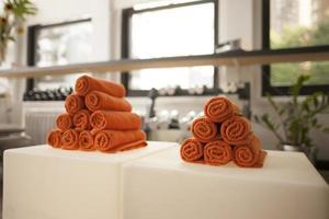 asciugamano con manubri foto