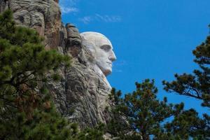 mt. rushmore, dakota del sud, george washington, profilo foto