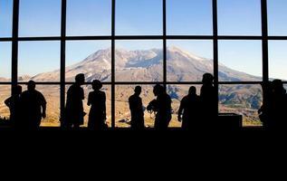 mt. osservatorio sulla cresta johnston di saint helens foto