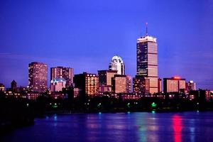 skyline di Boston foto