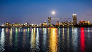 supermoon su boston foto