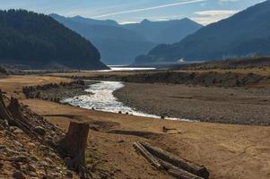 condizioni di siccità nel lago detroit, Oregon
