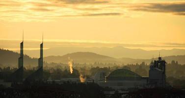 skyline urbano di Portland foto