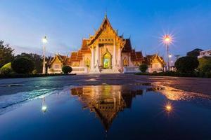 tempio di marmo di bangkok foto