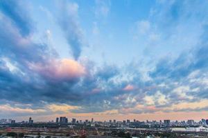 tramonto sopra bangkok inferiore foto