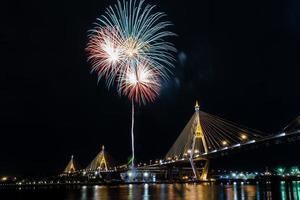 viva i fuochi d'artificio del re foto