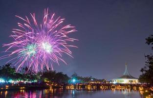 Fuochi d'artificio a Suan Luang Rama IX, Bangkok
