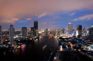 città di Bangkok di notte foto