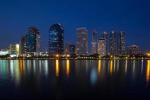 Bangkok al crepuscolo. foto
