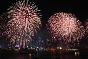 spettacolo dei fuochi d'artificio di New York City Manhattan foto