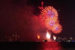 4 luglio fuochi d'artificio a New York foto