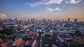 panorama della città di bangkok foto