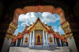 Tempio di Wat Benchamabophit, Bangkok, Tailandia foto