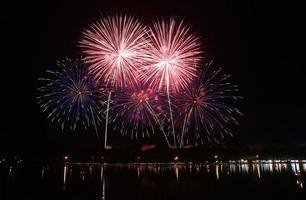 fuochi d'artificio colorati