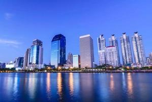 panorama della città di bangkok in centro foto