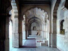 moschea di perle all'interno del forte di Lahore, in Pakistan foto