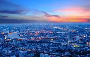 grande palazzo di notte di Bangkok foto
