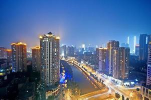 scena notturna della città della Cina