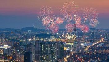 fuochi d'artificio di Seoul foto