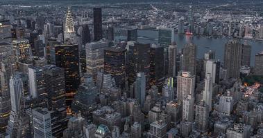 notte di paesaggio urbano di New York foto