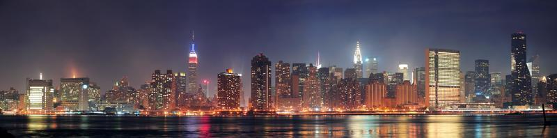 panorama di New York City Manhattan foto