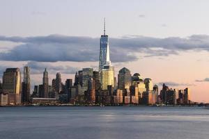 skyline del centro di manhattan - new york city