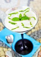 yogurt al limone fresco foto