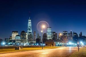 vista di mattina dell'orizzonte di New York City Manhattan foto