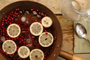 punch al limone e mirtillo rosso