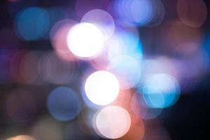 città bokeh di notte foto