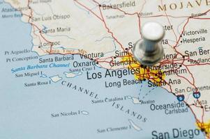 puntina da disegno sulla California