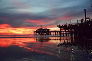 bellissimo tramonto di santa monica