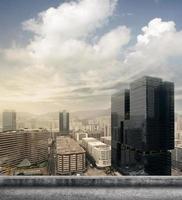 orizzonte della città di Hong Kong foto