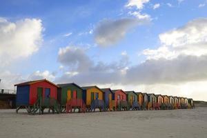 capanne sulla spiaggia a muizenberg foto
