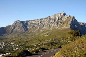 table mountain, sud africa foto