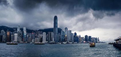 costruzioni della città dell'yacht di Hong Kong foto